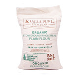 Kialla Organic Stoneground Wholemeal Plain Flour 5kg