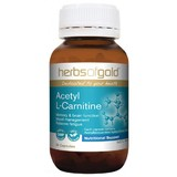 Herbs Of Gold Acetyl L-Carnitine 60 Vegetable Capsules