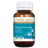 Herbs Of Gold Mega B Complex 60 Vegetable Capsules