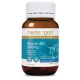 Herbs Of Gold Vitamin B2 200mg 60 Tablets