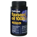 Melrose Health Organic Flaxseed Oil 1000mg 250 VC