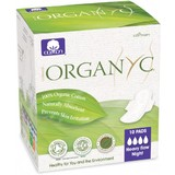 Organyc Ultra Thin Pads Heavy Flow Night With Wings 10 Pack