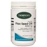 Thompson's Flaxseed Oil 1000mg 400 Vegi-Capsules