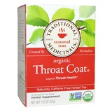Traditional Medicinals Organic Throat Coat Herbal Tea 16 Tea Bags