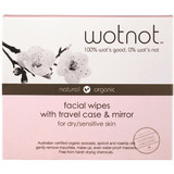 Wotnot Facial Wipes Dry Sensitive Skin Travel Case 25pk