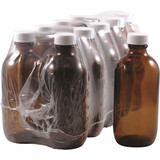 10 x 200ml Amber Glass Bottle With Cap