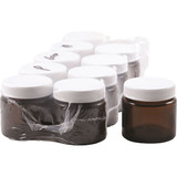 10 x Amber Glass Jar with Lid 60g