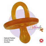 Natural Rubber Soothers Round Small Single (0-3 Months)