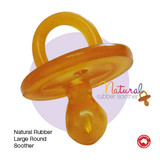 Natural Rubber Soothers Round Large Single (6+ Months)
