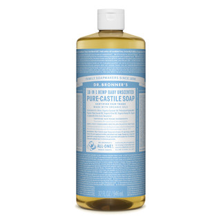 Dr. Bronner's Liquid Soap Baby-Mild (Unscented) 946ml