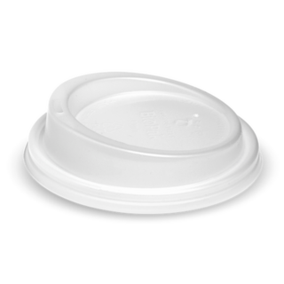 50x BioCup White Lid For Double Wall Coffee Cup 90mm